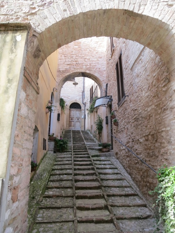 steep hill town alley